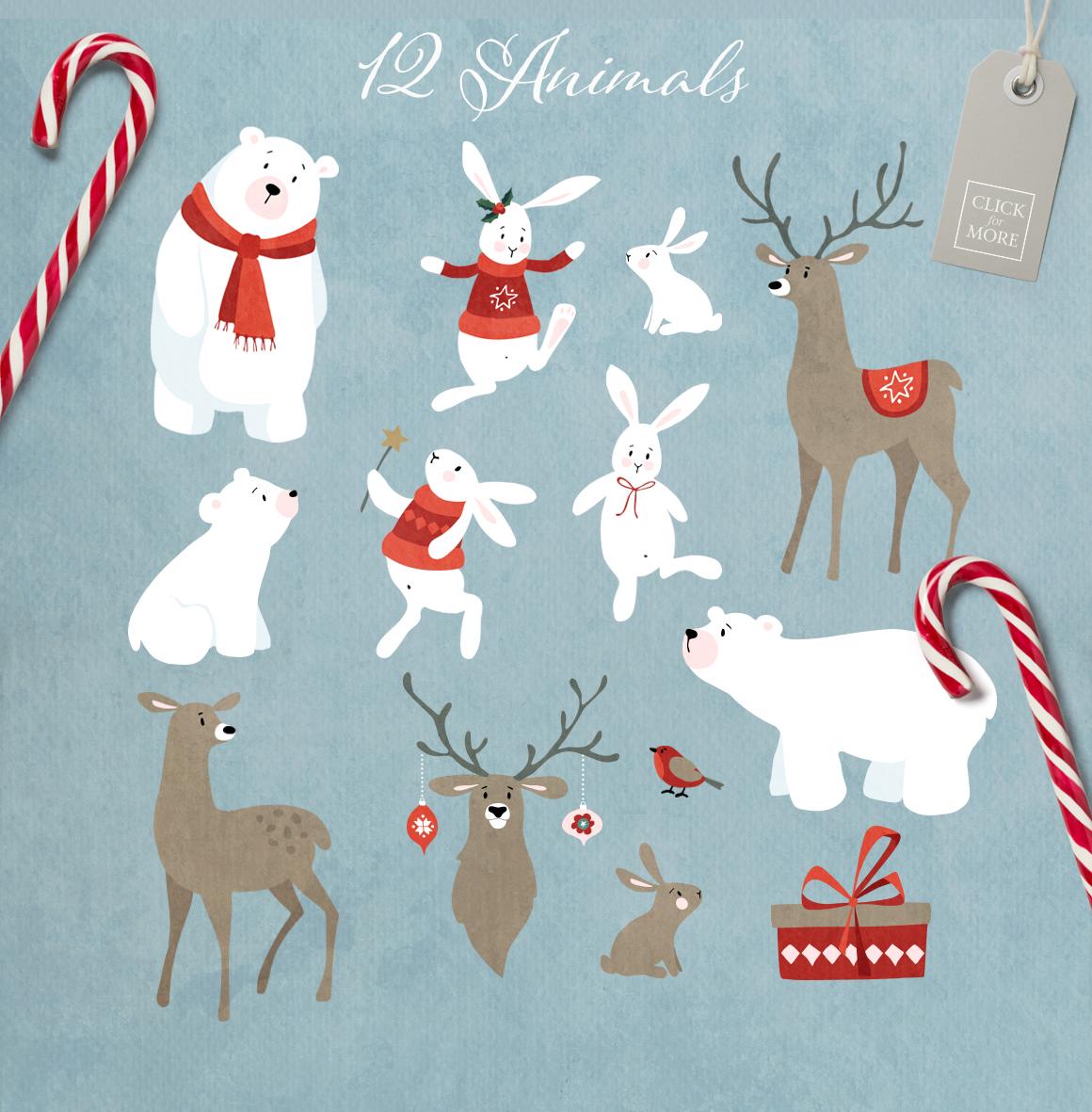 Merry Christmas set, 166 elements example image 4