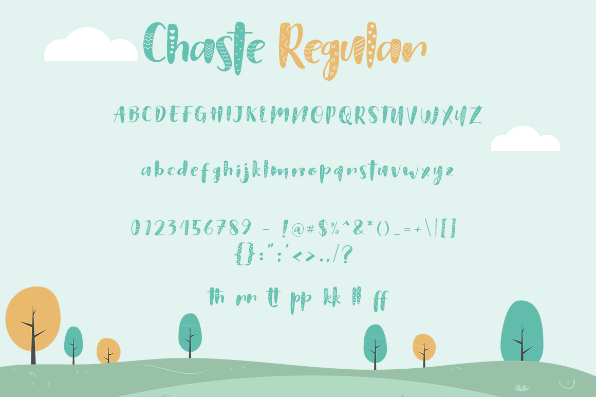 Chaste Display 3 Font example image 5