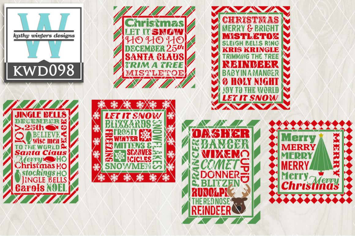 Christmas Cutting File KWD098 example image 1