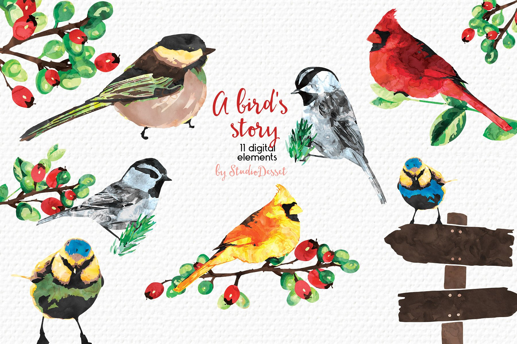 Christmas Bundle of Illustrations example image 11