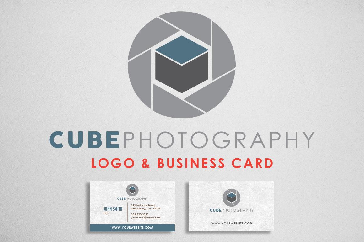 Photography Logo & Bcard Bundle example image 1
