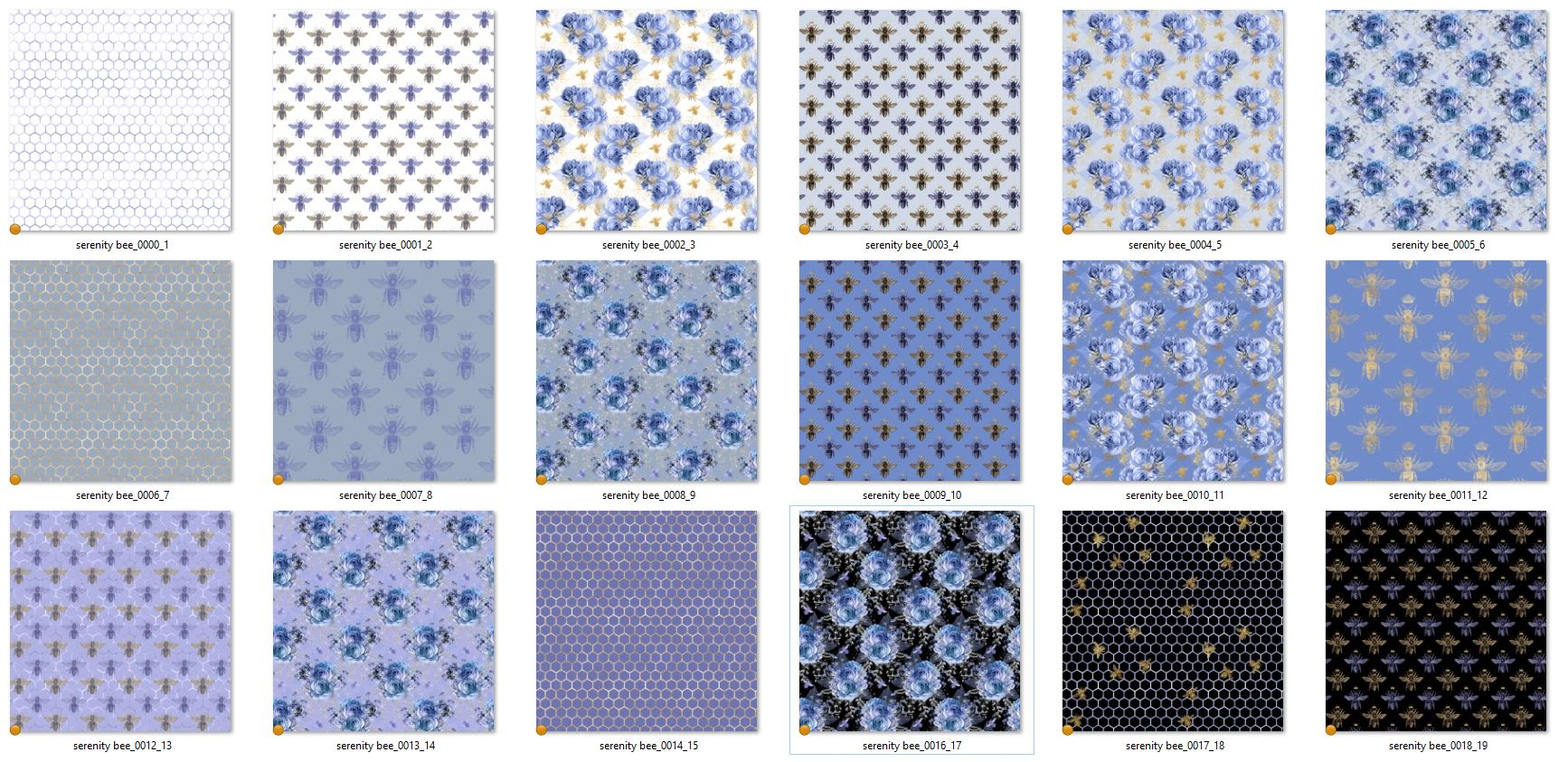 Serenity Bee Seamless Patterns example image 3