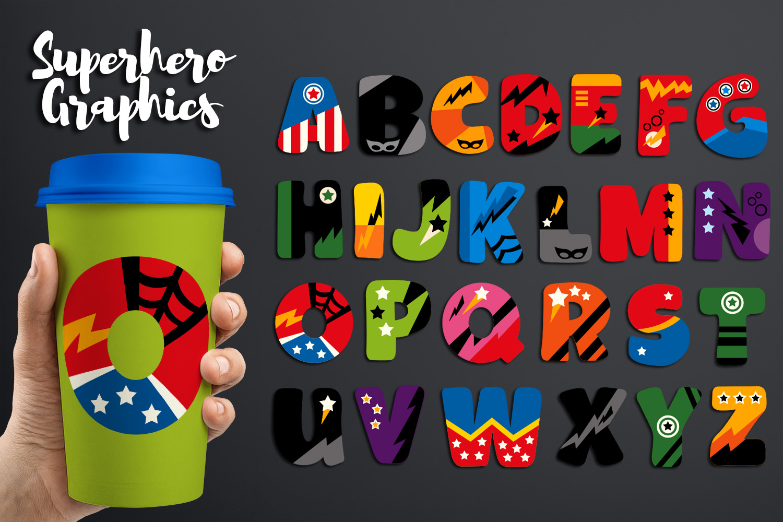 Superhero Alphabet and Punctuation - Graphics Bundle example image 3