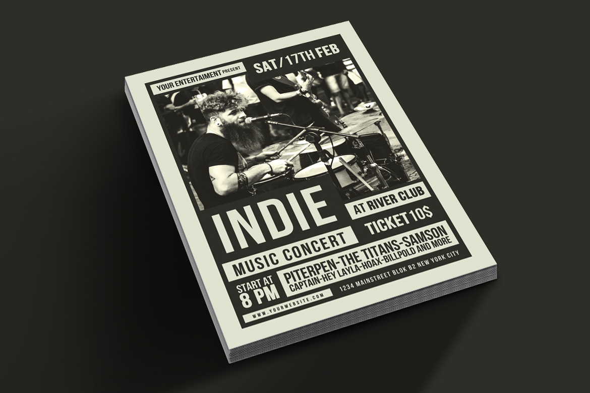 Indie Music Flyer example image 3