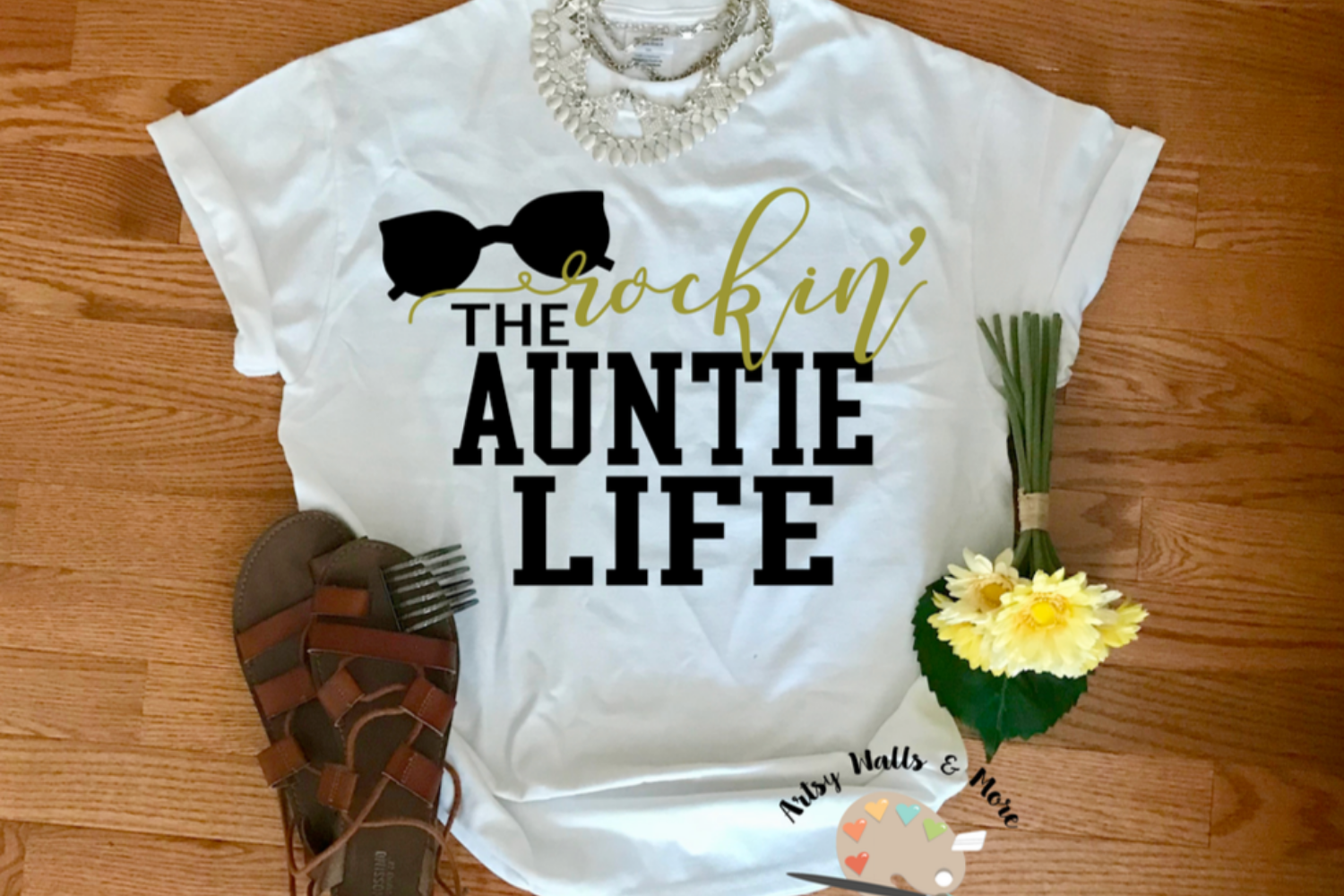 Rockin' the auntie Life svg file Best auntie svg New auntie example image 1
