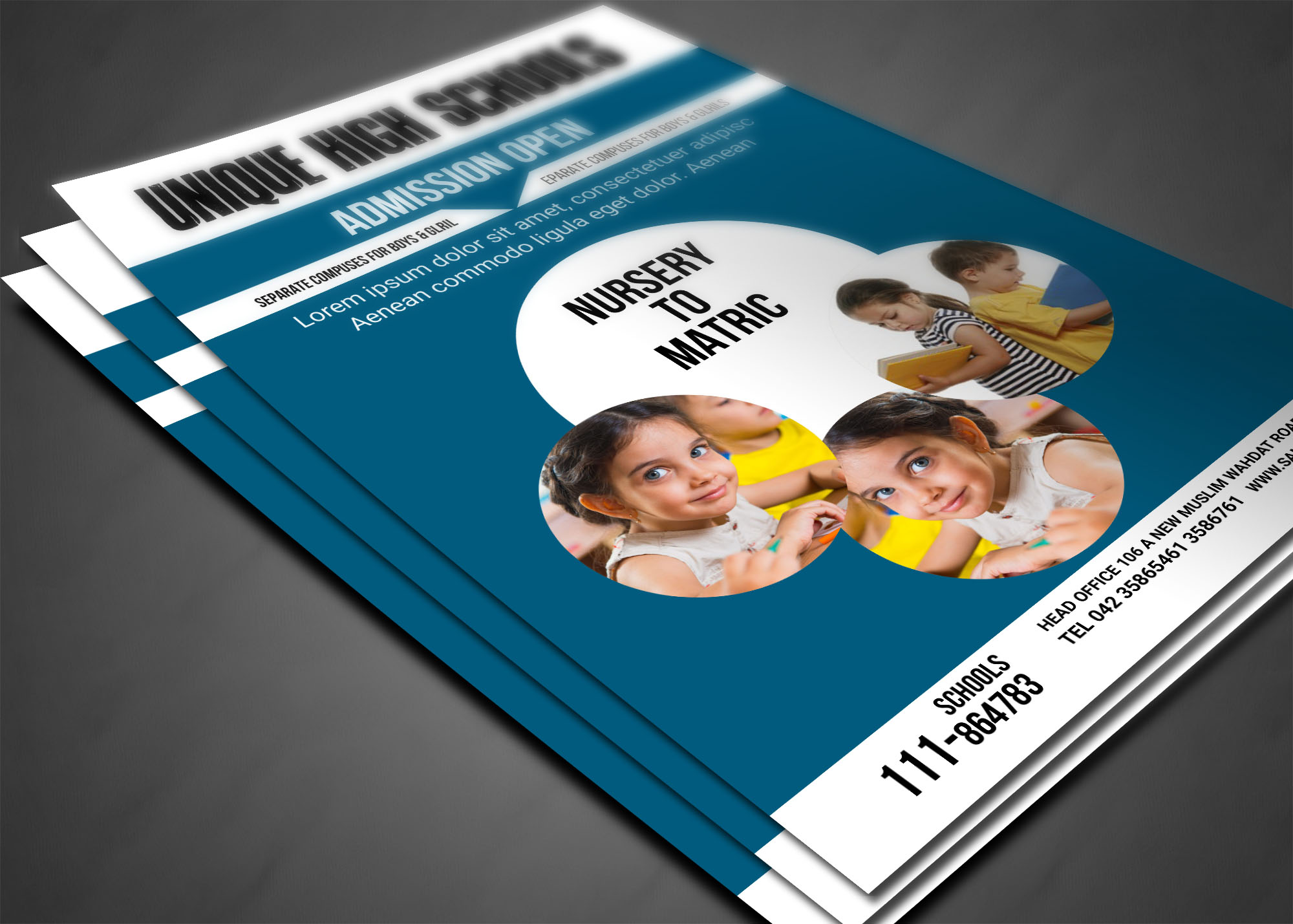 Admissions Open Flyer example image 4