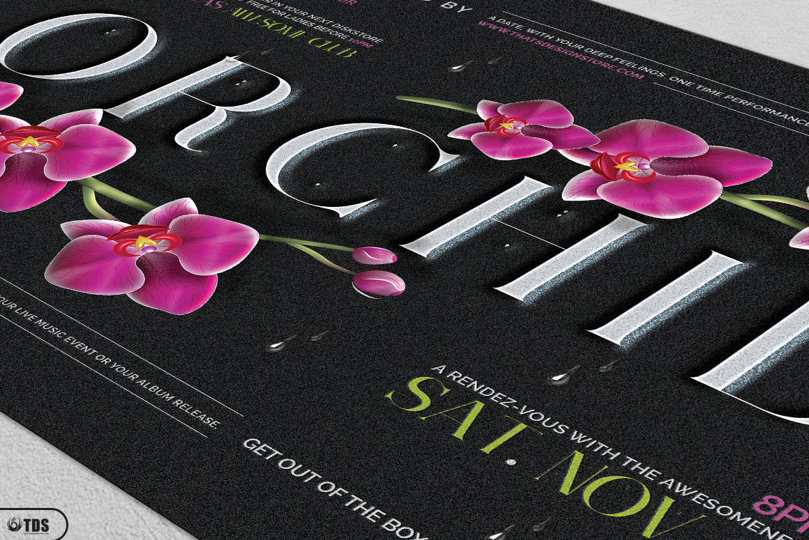 Orchid Flyer Template example image 8