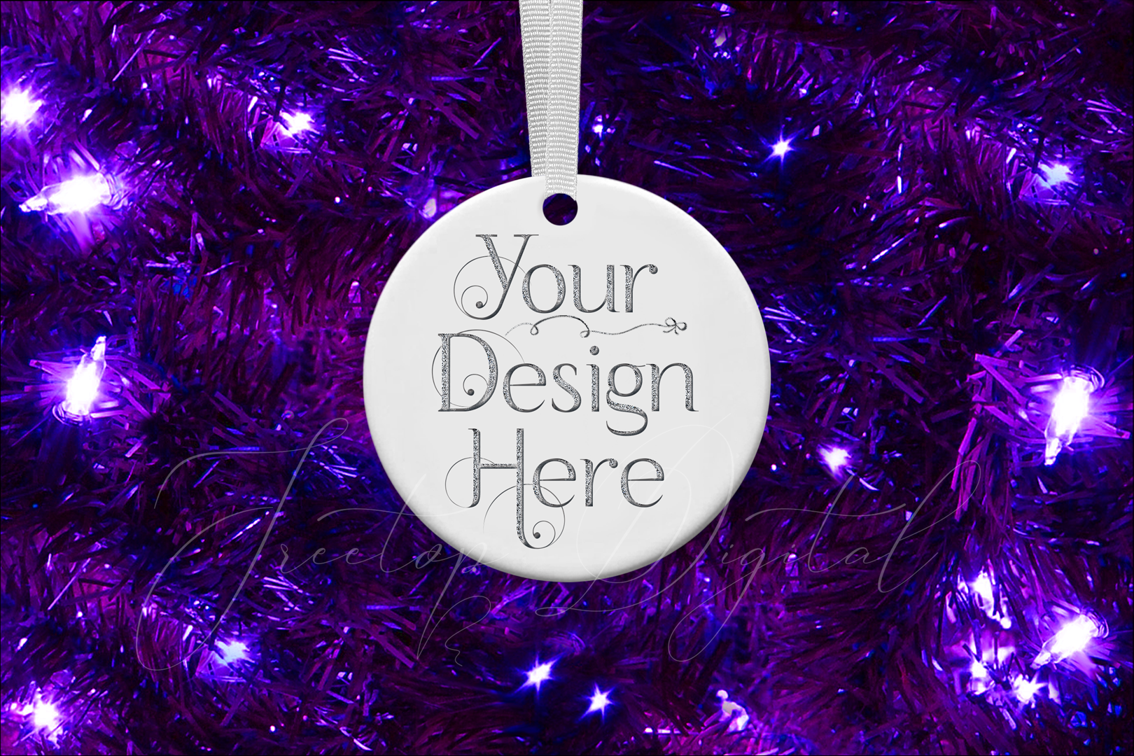 Round Christmas Ornament Mockup, Bauble Mock- Up, JPG example image 10