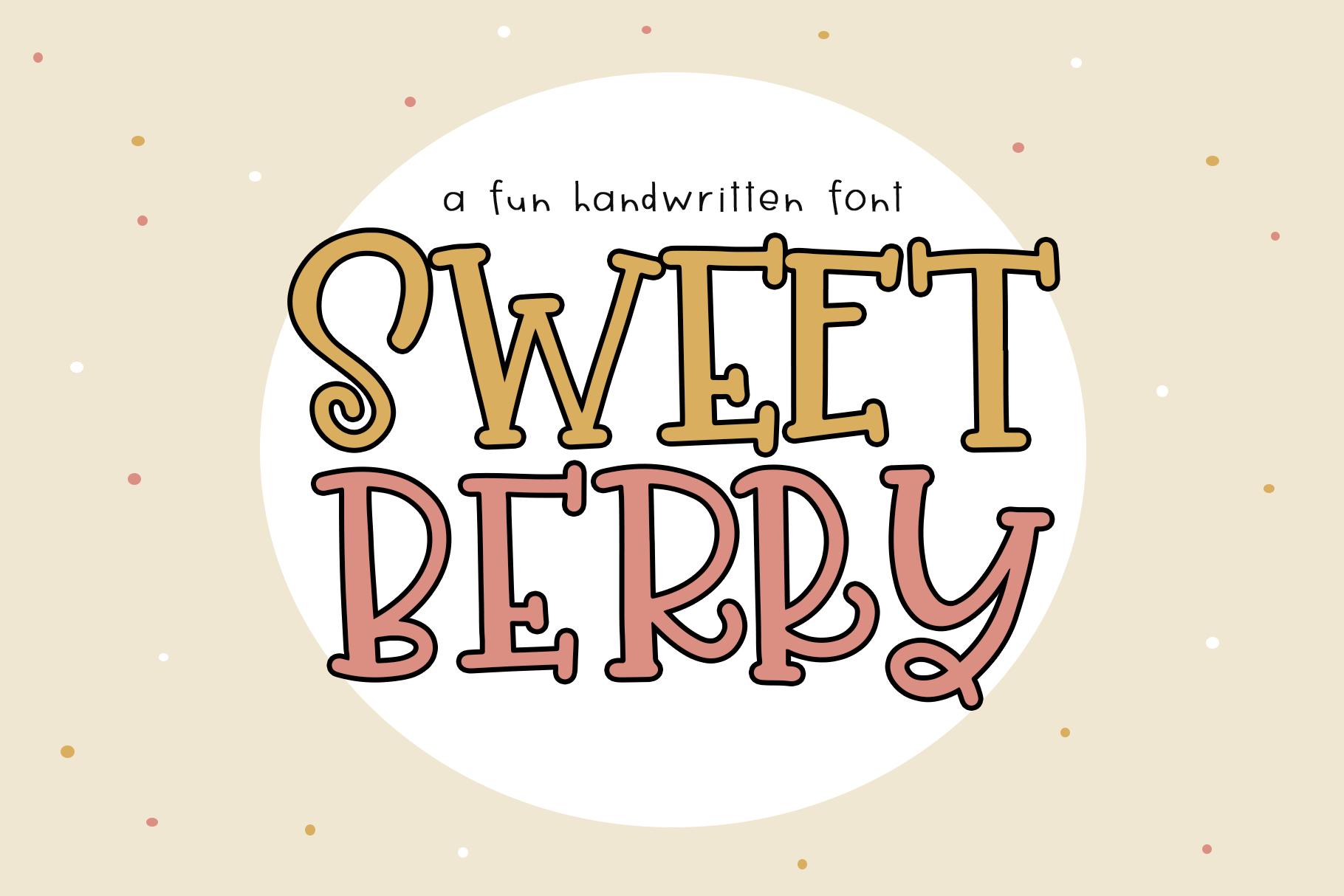 Sweet Berry - A Fun Handwritten Font example image 1