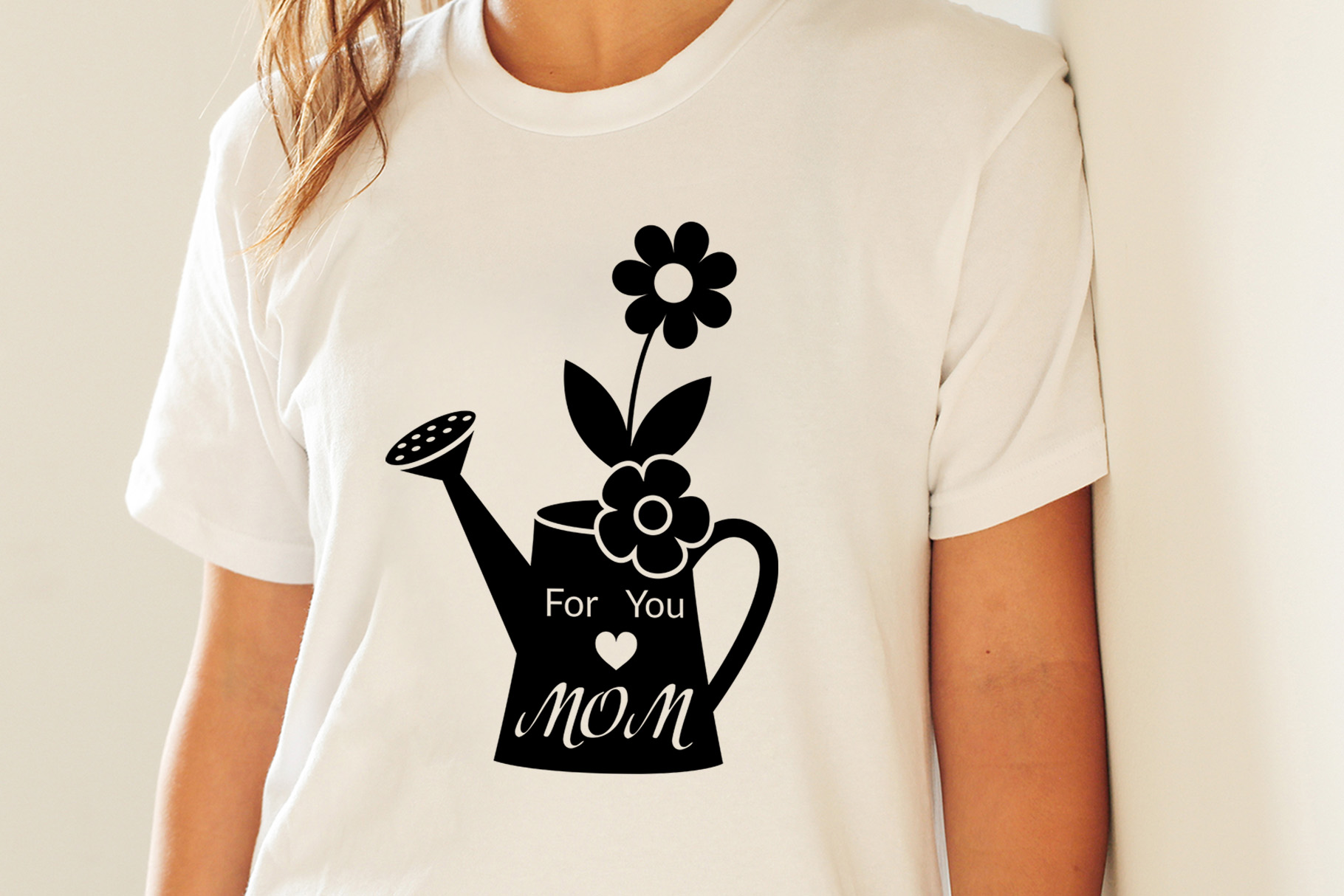 For you Mom, flowers in a watering can, monogram example image 2