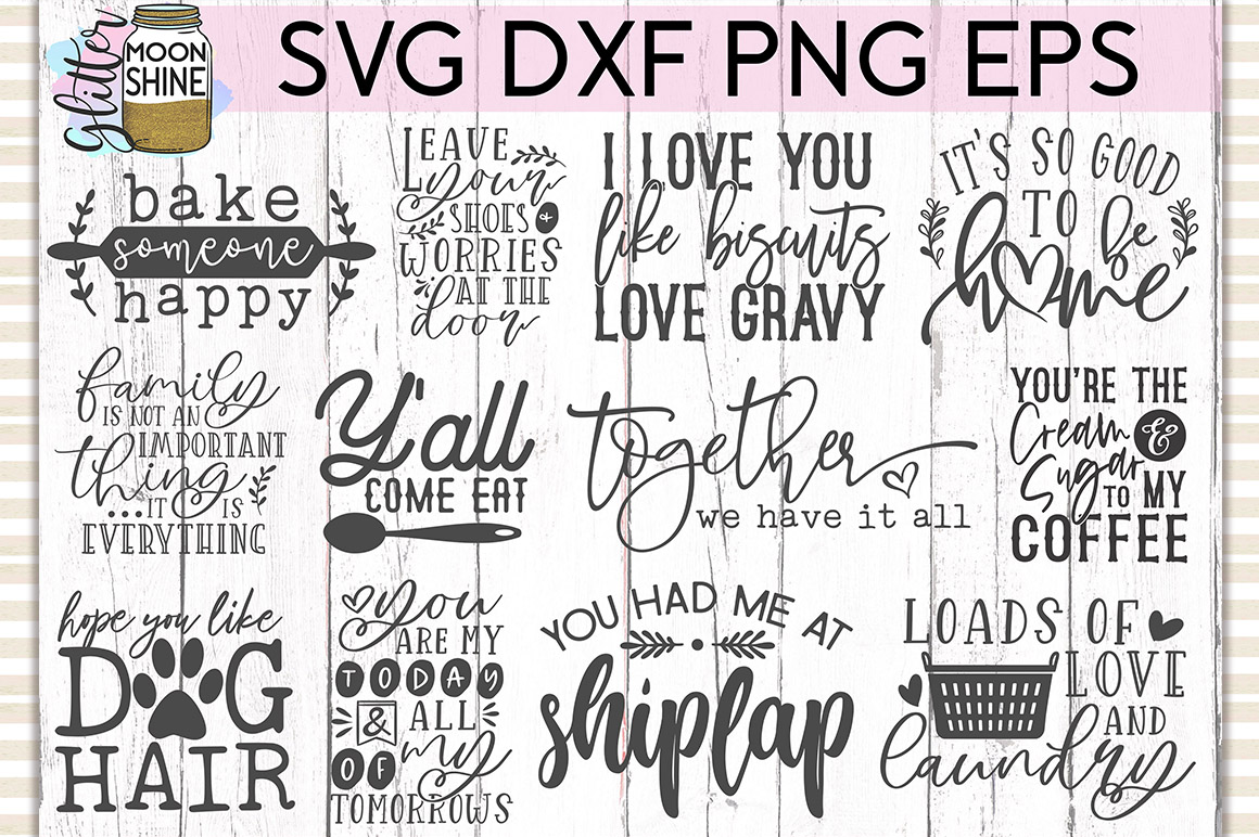 Rustic Home Bundle of 42 SVG DXF PNG EPS Cutting Files example image 2