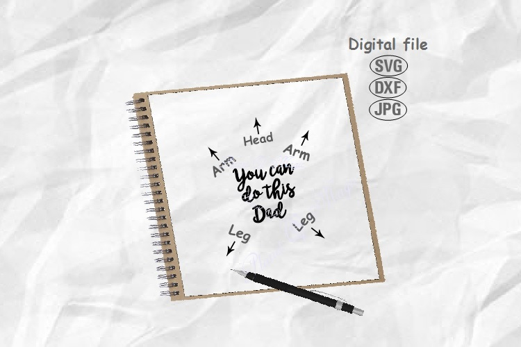 You Can Do This Dad Svg, Baby Svg, Newborn Svg, New Dad Svg example image 1