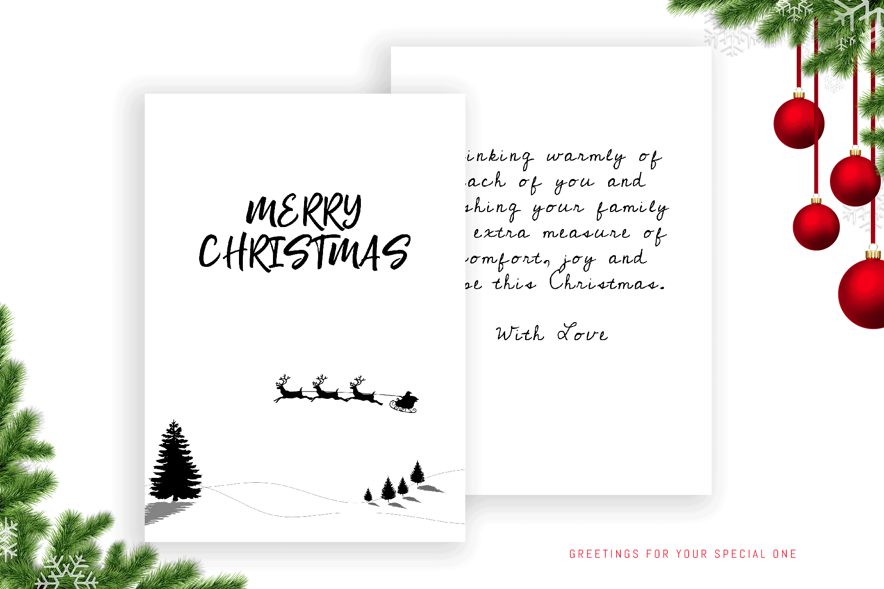 Christmas personalised greeting card for special one example image 1