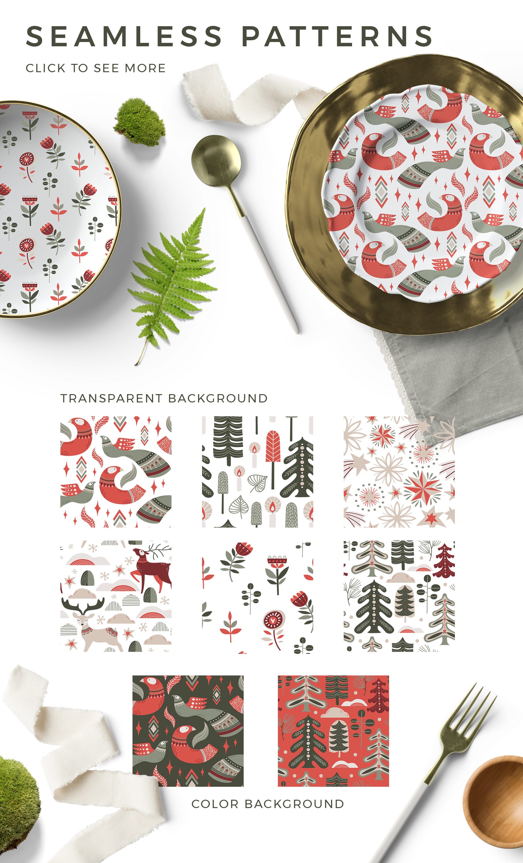 Nordic winter scandi christmas set example image 5