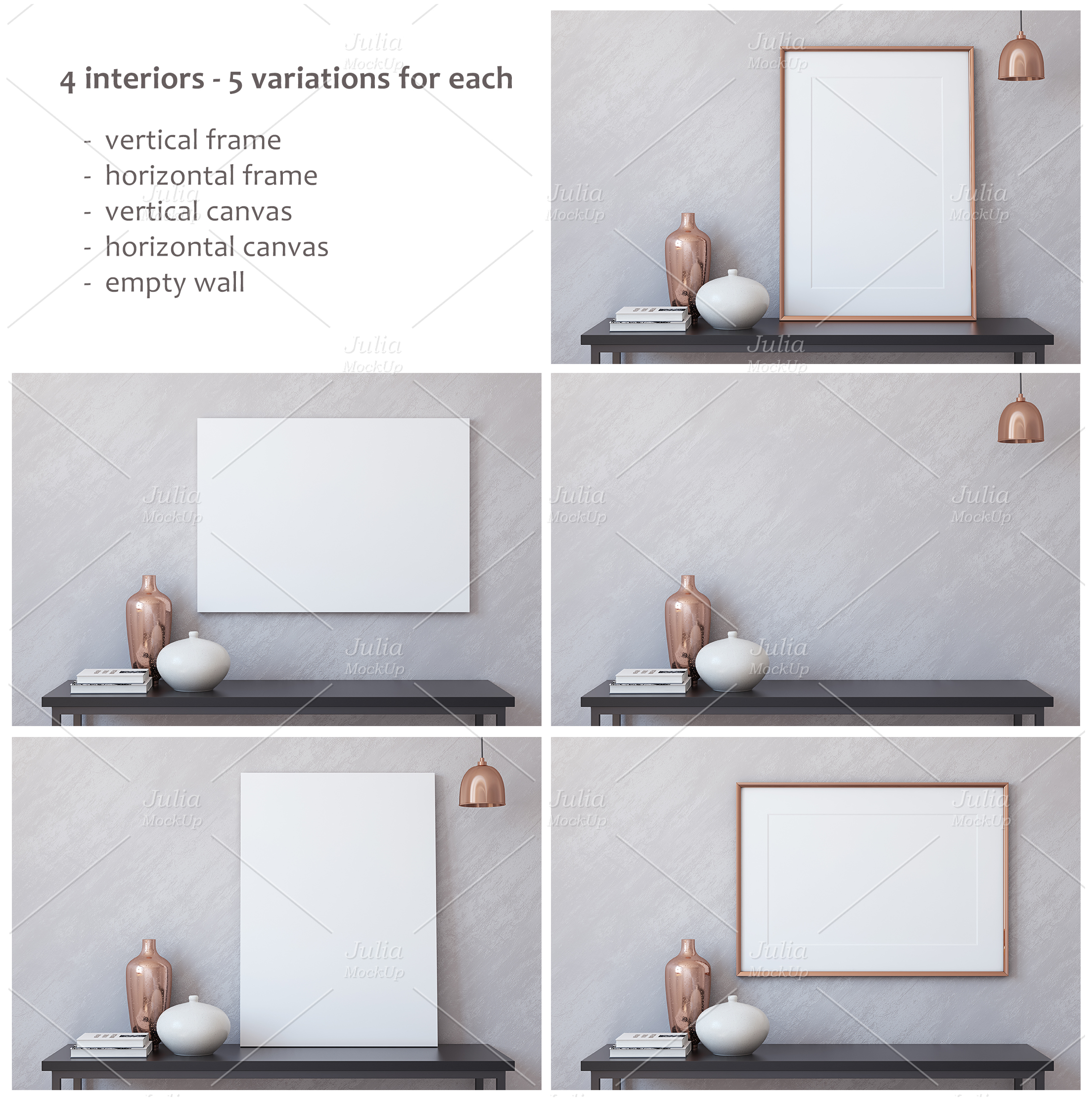 Frame&Canvas&Wall Decal Mock-ups. example image 3