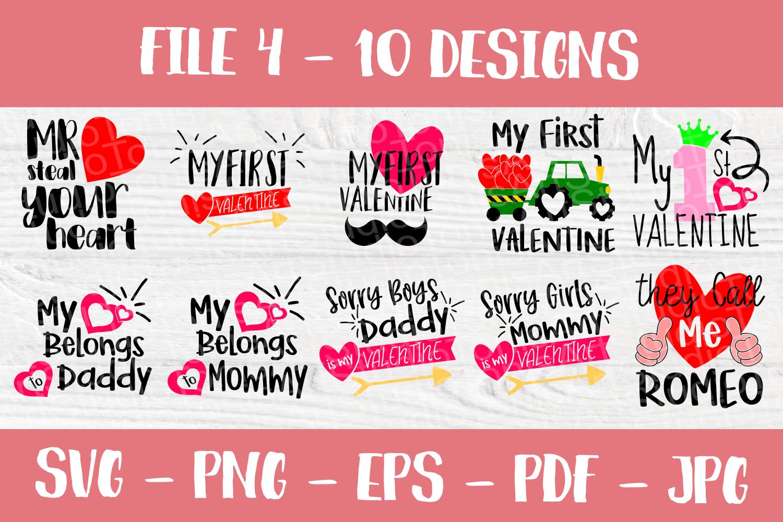 Valentines SVG Bundle| Valentine's Day Cut Files | Funny SVG example image 5