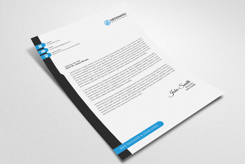 Letterhead Microsoft Word example image 4