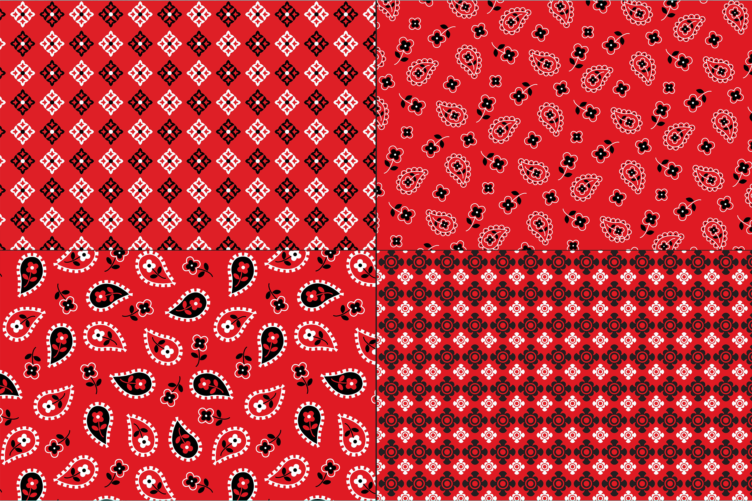 Red Bandana Patterns example image 2