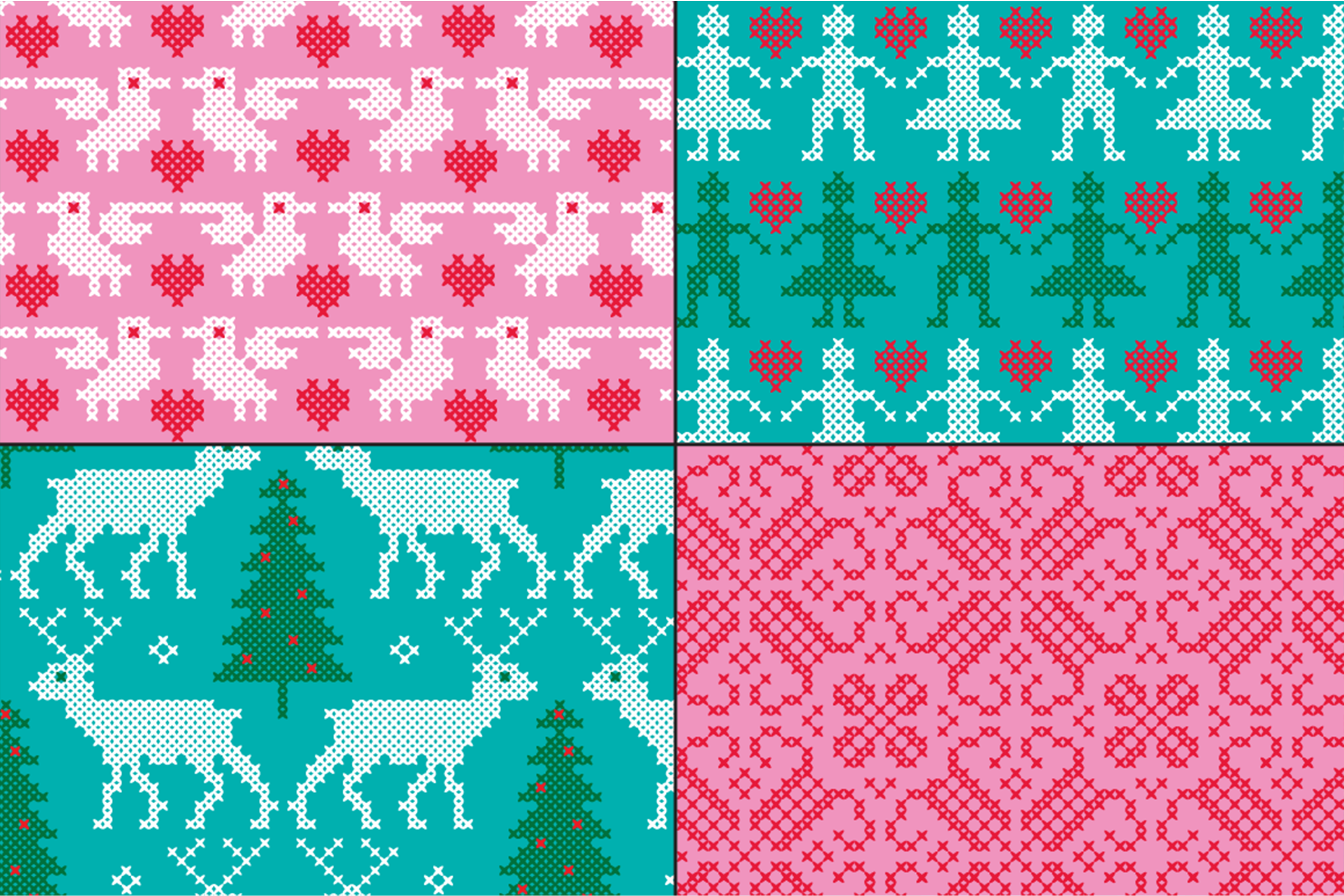 Embroidered Nordic Patterns & Graphics Bundle example image 3