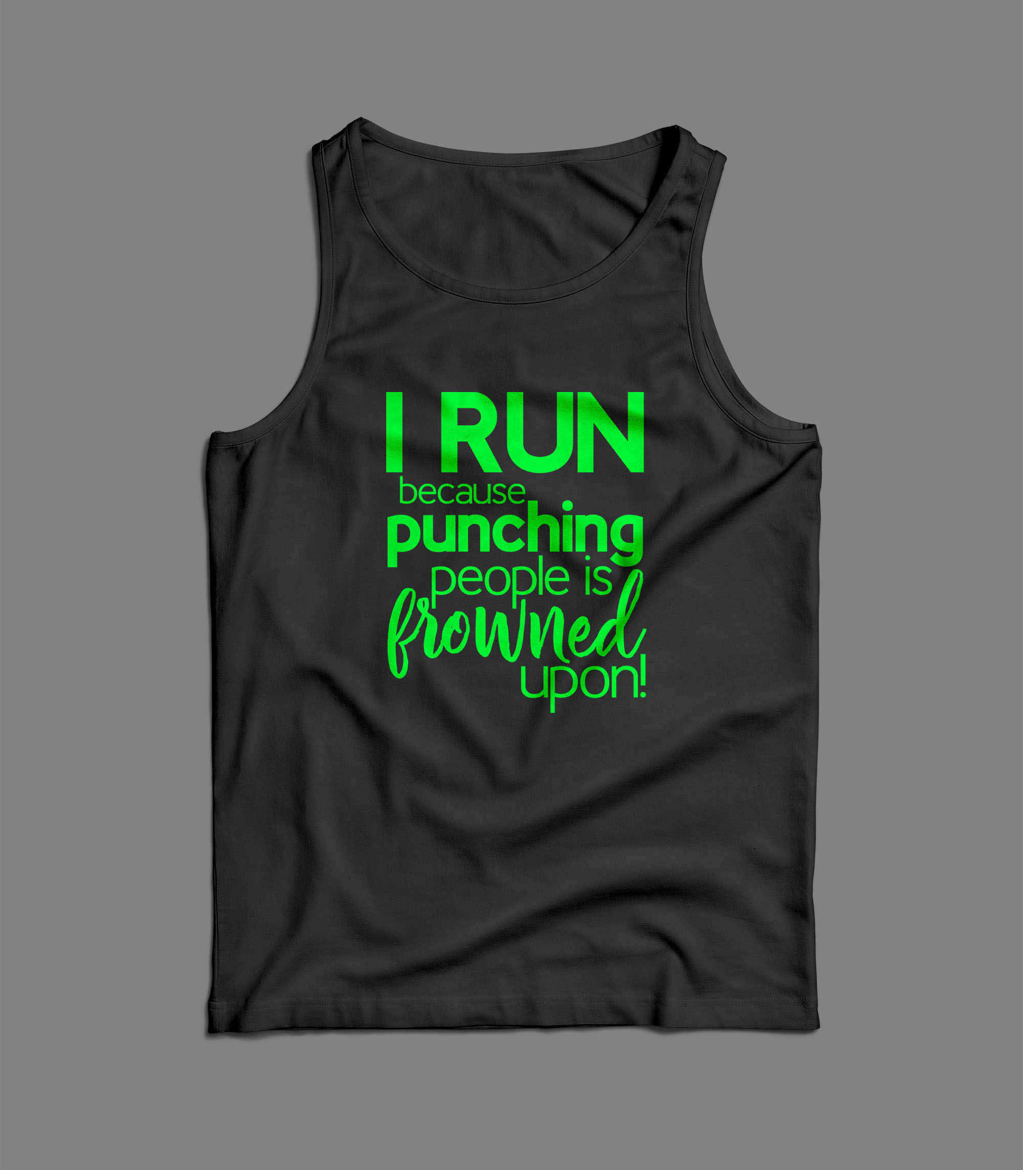 I run because punching people is frowned upon! exercise SVG example image 3