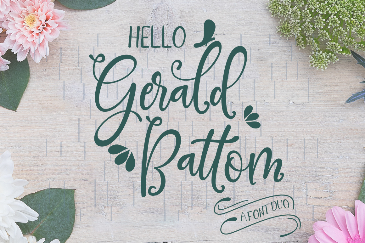 Gerald Battom-FONT DUO example image 1