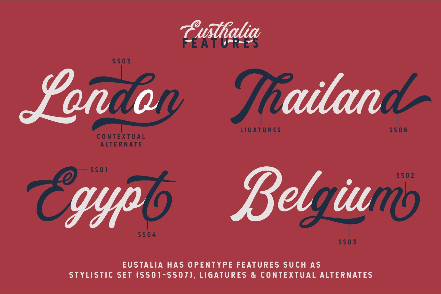 Eusthalia Typeface example image 3