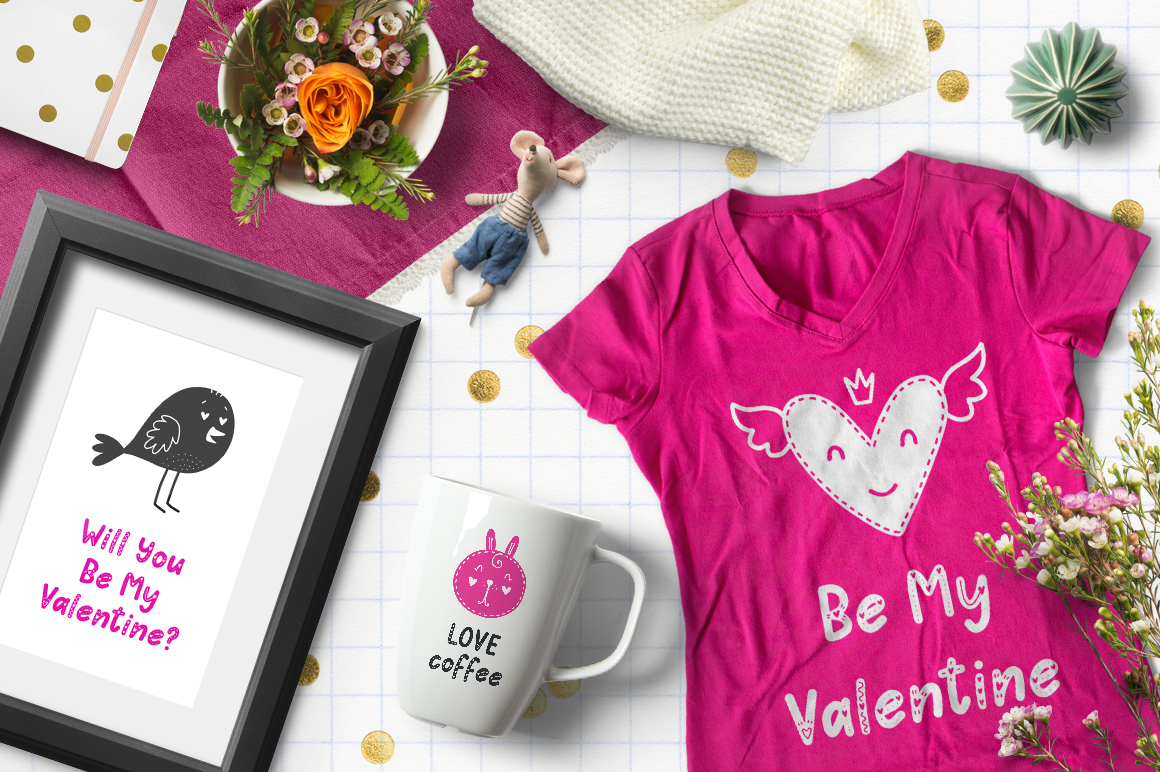 Hello Love - Valentine's Day Font example image 5