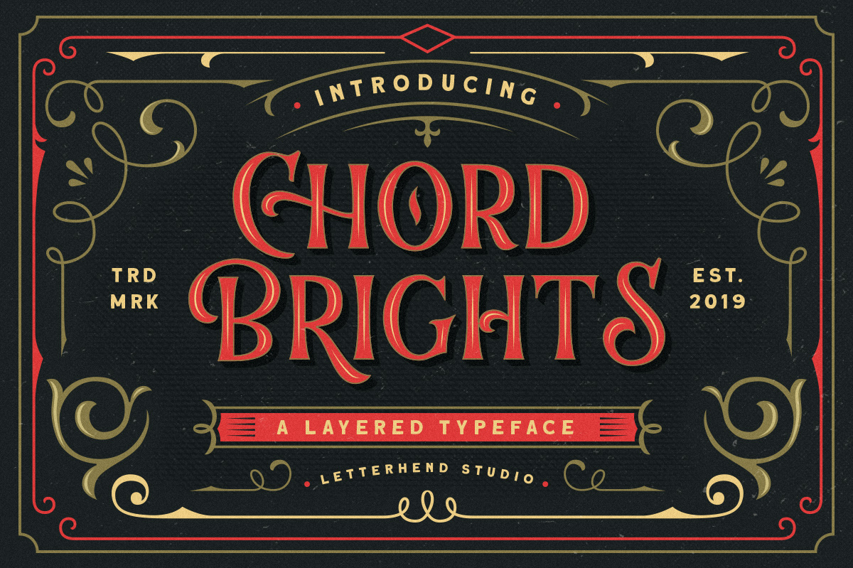 Chord Brights - A Layered Typeface example image 1