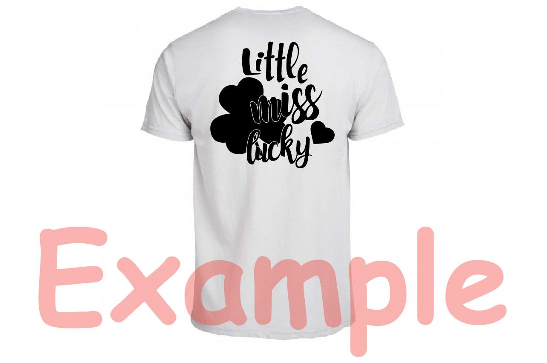 Little miss lucky St Patricks shamrock svg, irish svg -744s example image 3