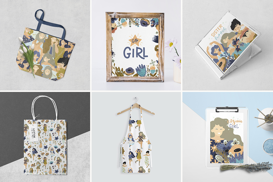 Girls - vector big collection example image 9