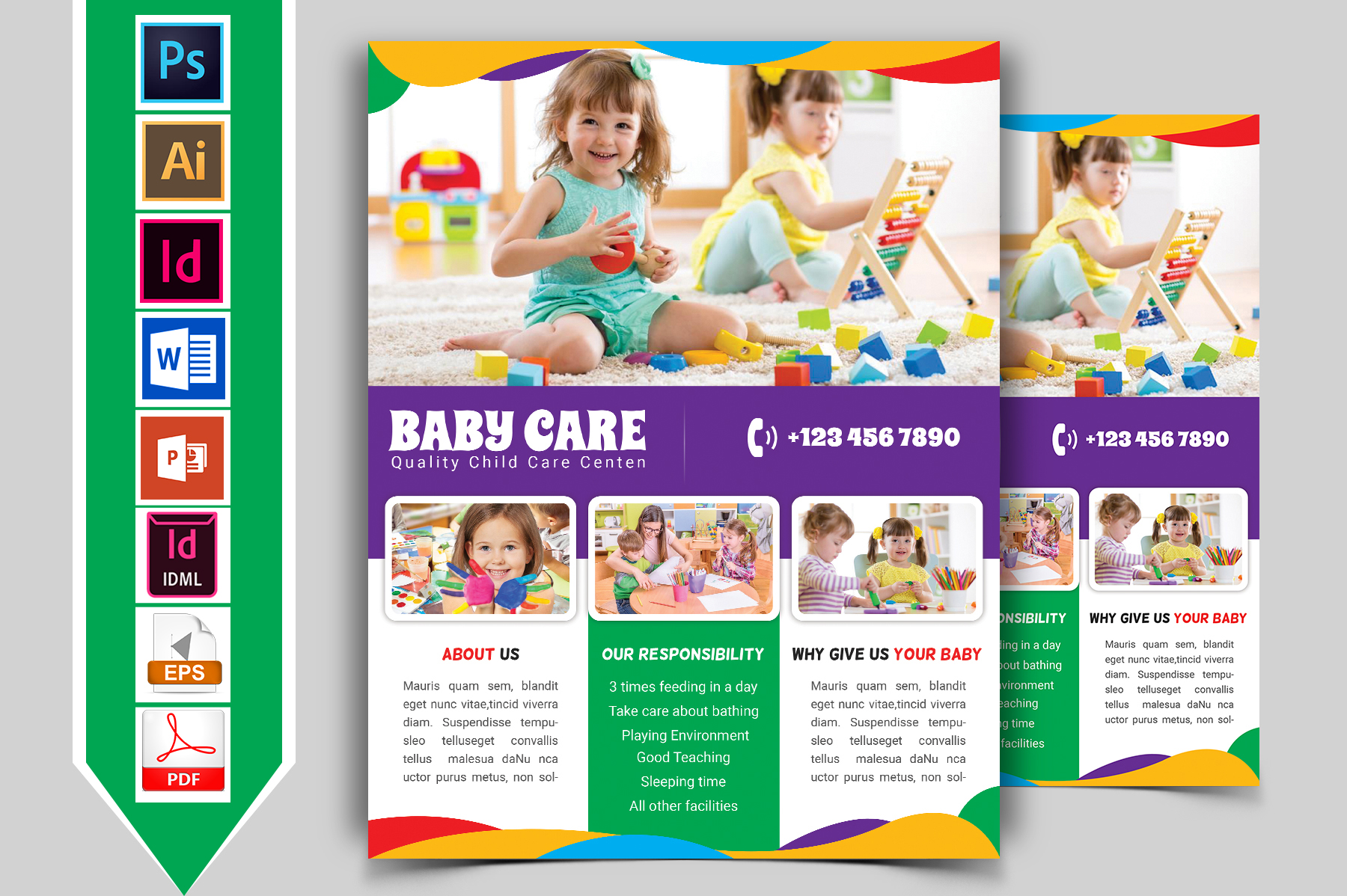 Baby Care Flyer Vol-02 example image 1