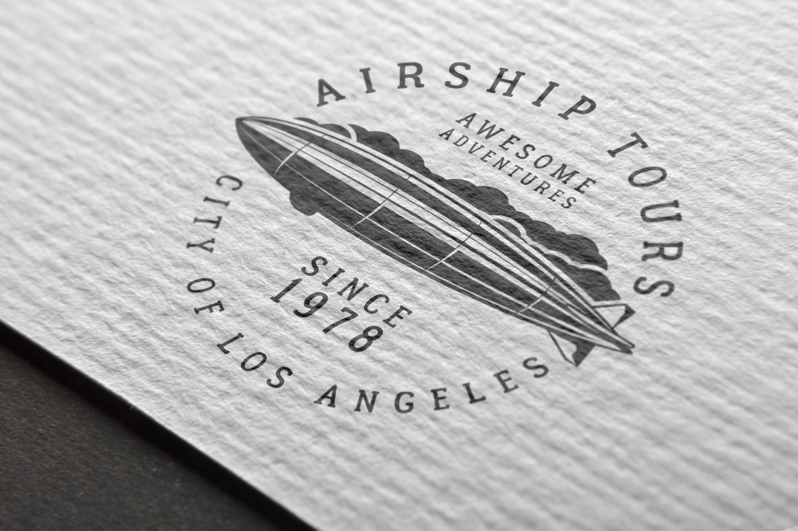 Airship Tours Logo Template example image 2