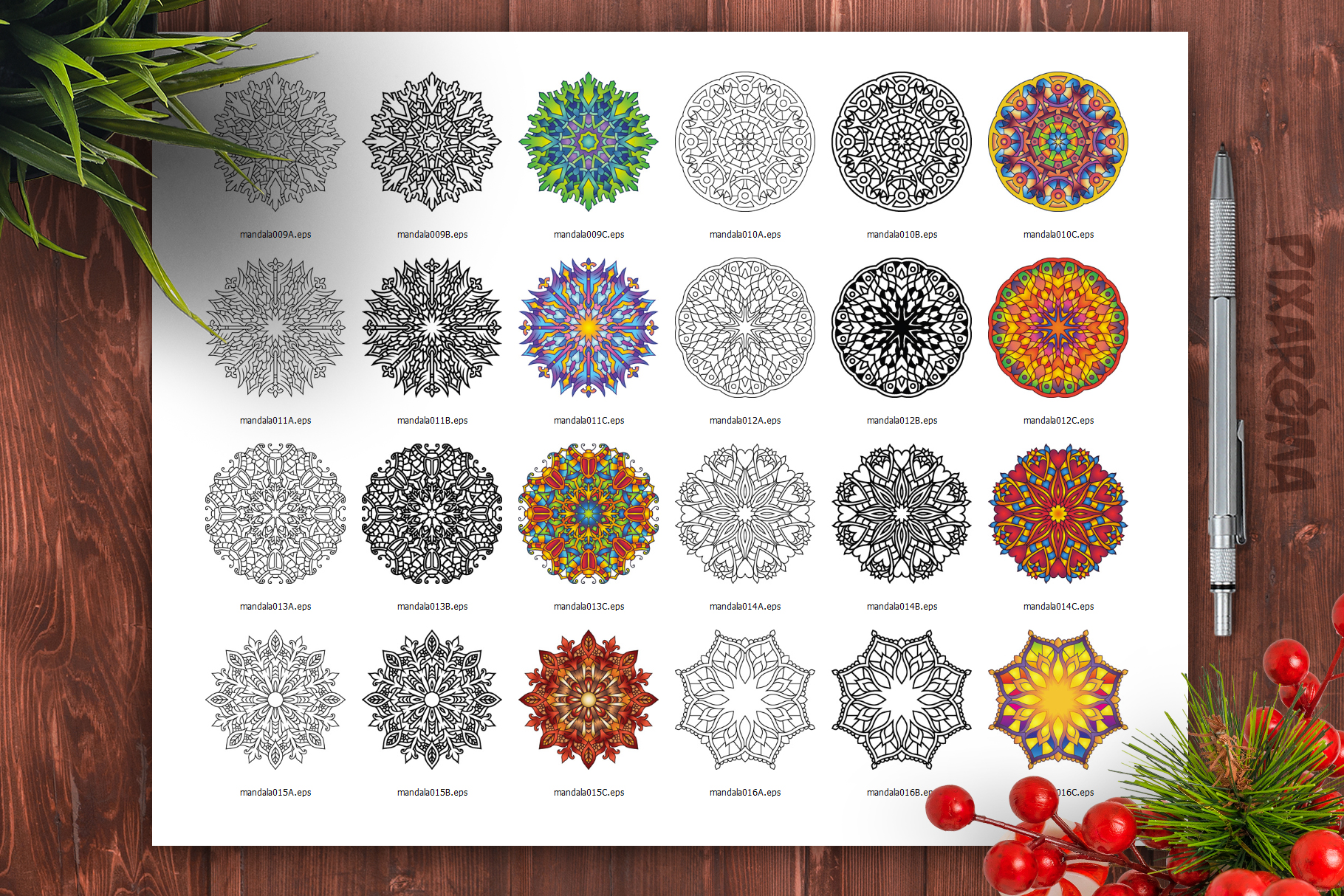 Mandala Vector Ornaments Bundle example image 27