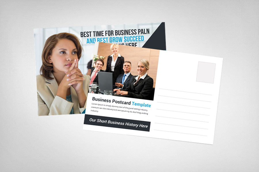 Corporate Business Postcard Template example image 1