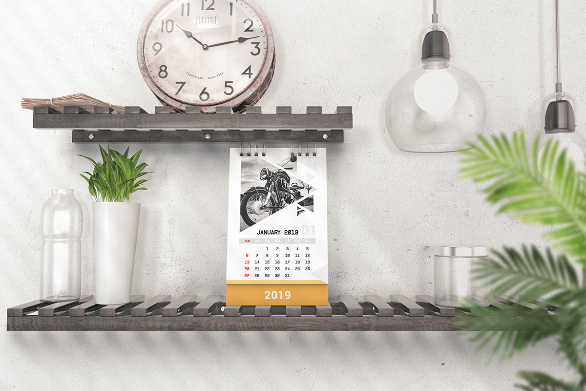 Various Desktop Calendars Mockup example image 4