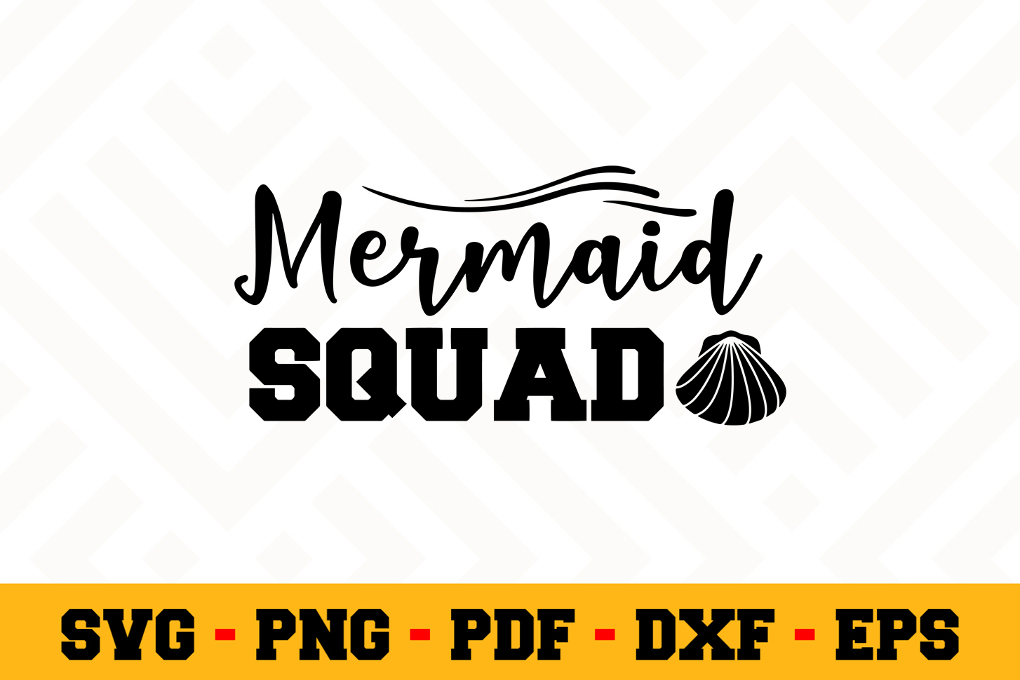 Mermaid SVG Design n526 | Mermaid SVG Cut File example image 1