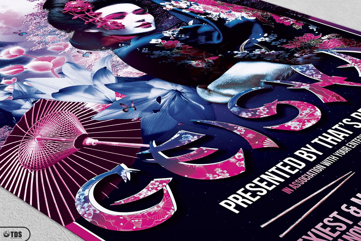 Geisha Night Flyer Template V2 example image 5