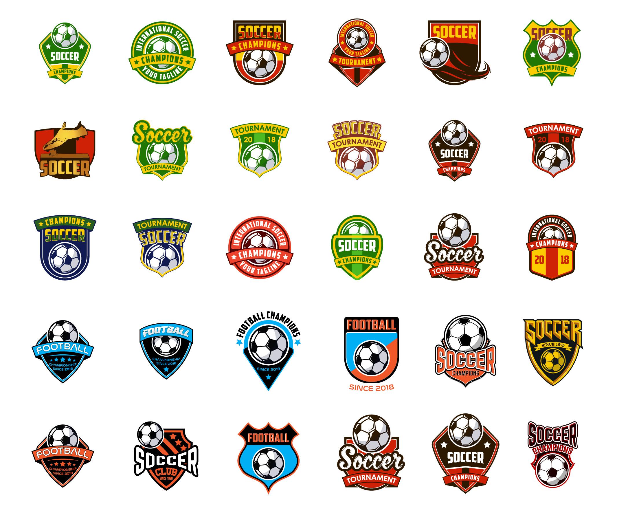 30 football / soccer emblem sports logo  example image 2