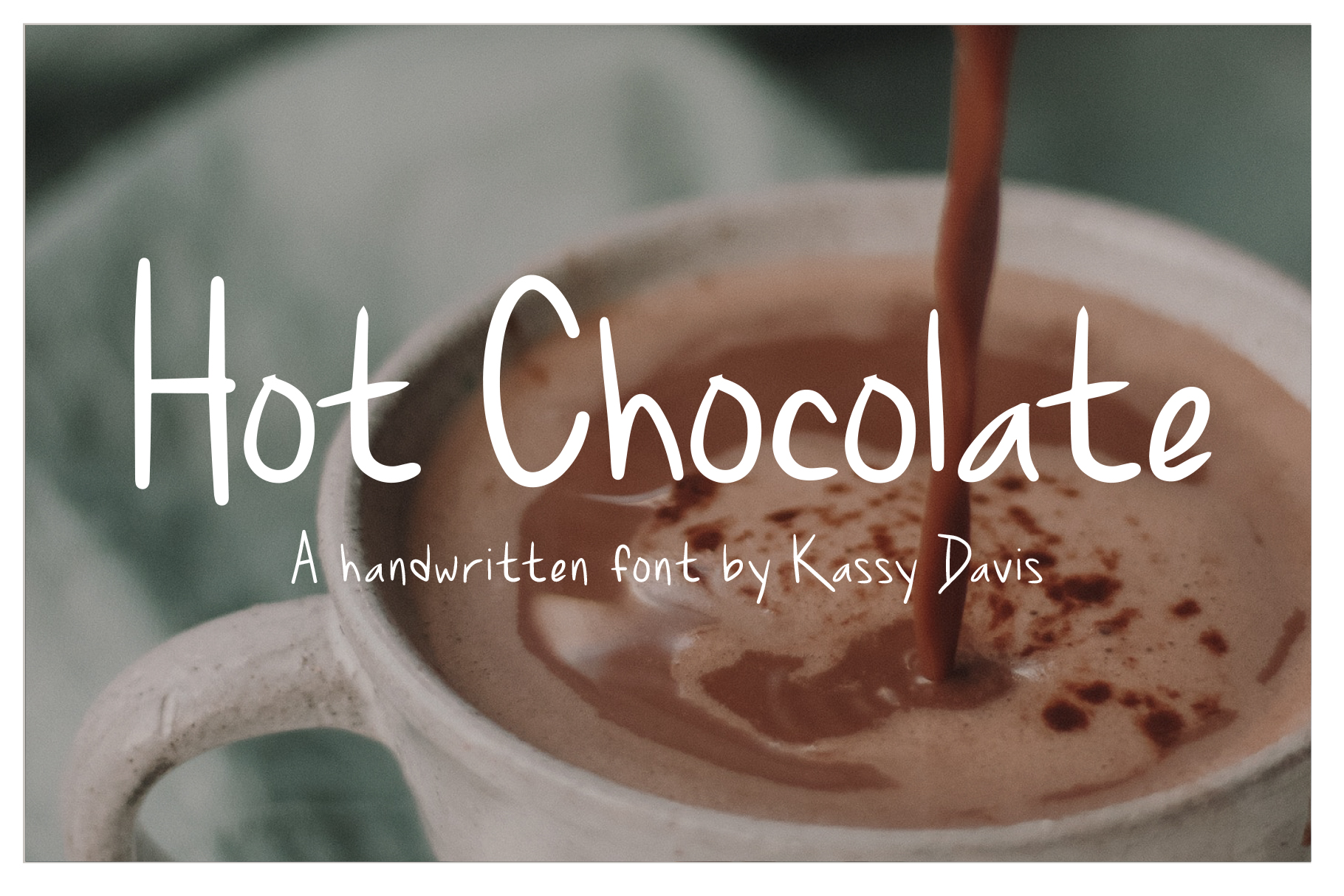 Hot Chocolate Handwritten Font example image 1