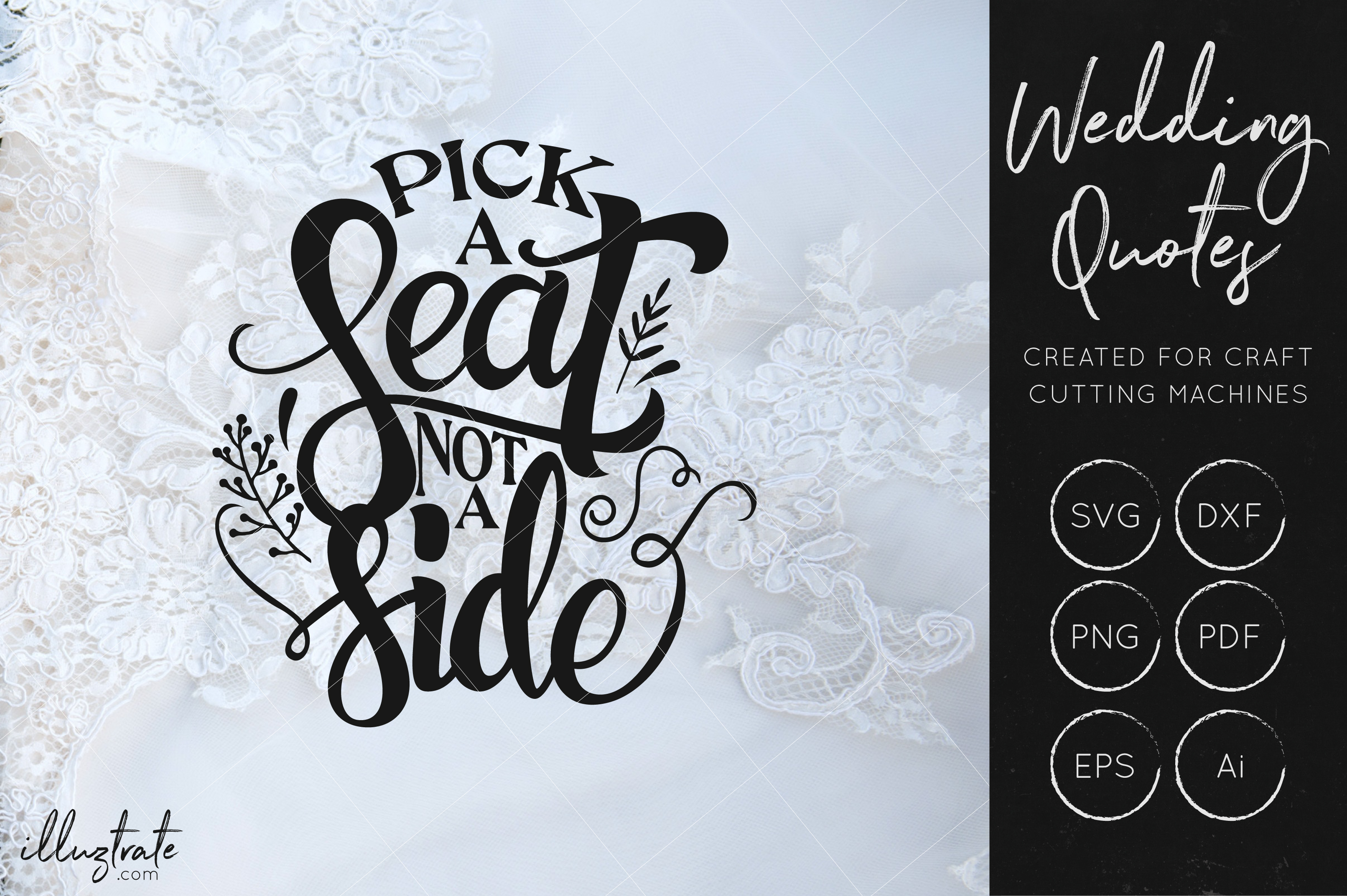 Wedding SVG Cut Files Bundle - Wedding Quotes - Wedding SVG example image 9
