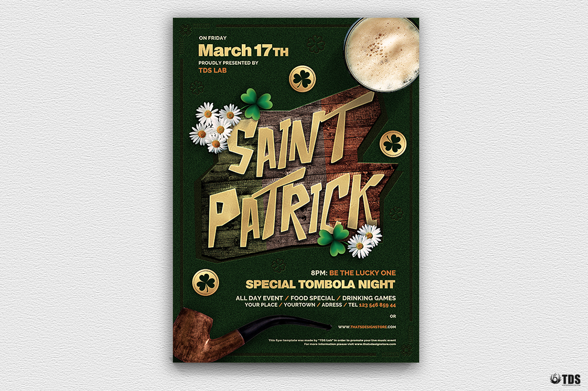 Saint Patricks Day Flyer Template V6 example image 2