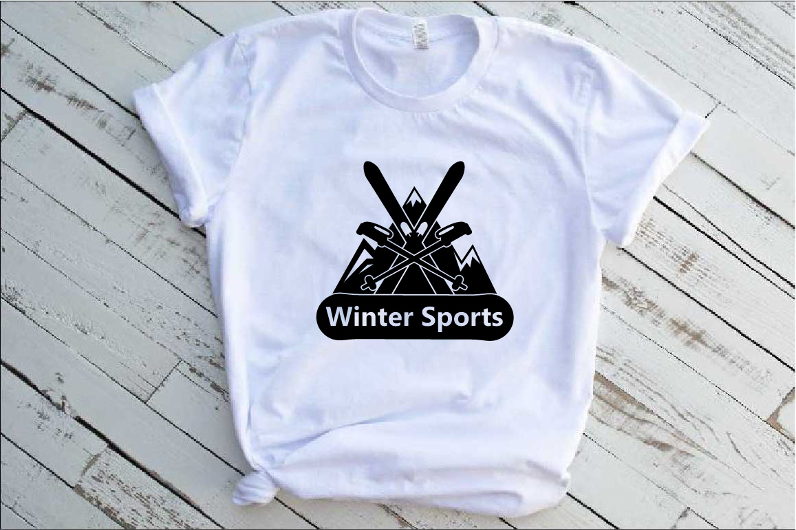 Winter Sports Logo Mountains Ski Side svg 1066s example image 2