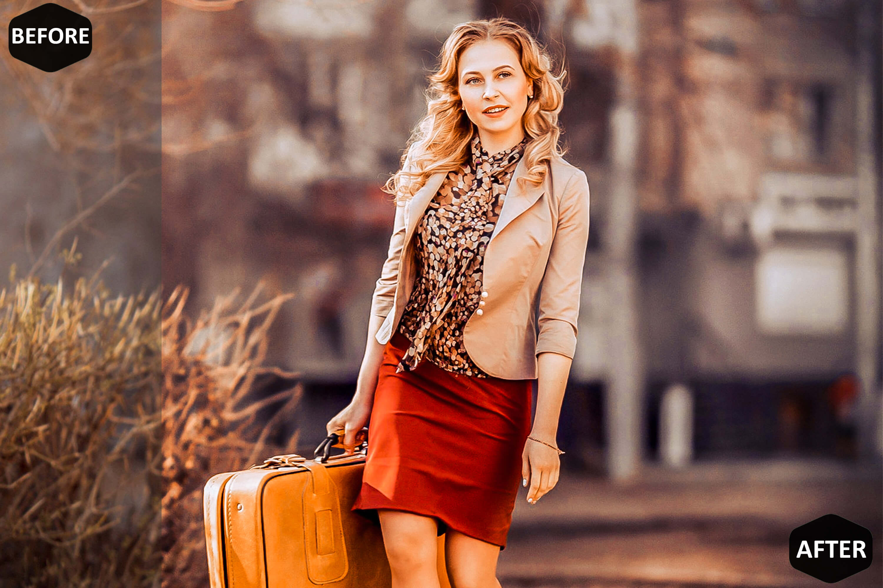 Red Blogger Photoshop Actions And ACR Presets example image 6