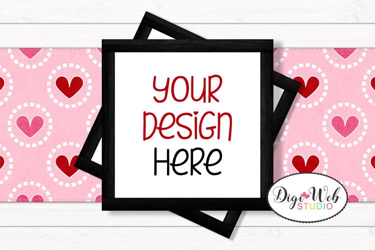 12 Valentine Mockups Bundle -Wood Signs, Pillows, Cards, Mug example image 2