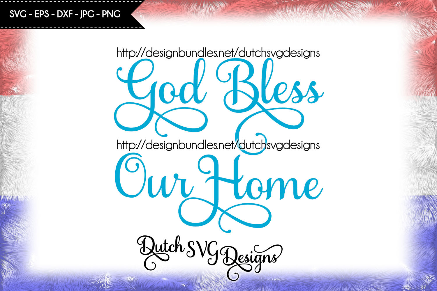 Text cutting file God Bless our Home, svg cut file example image 4