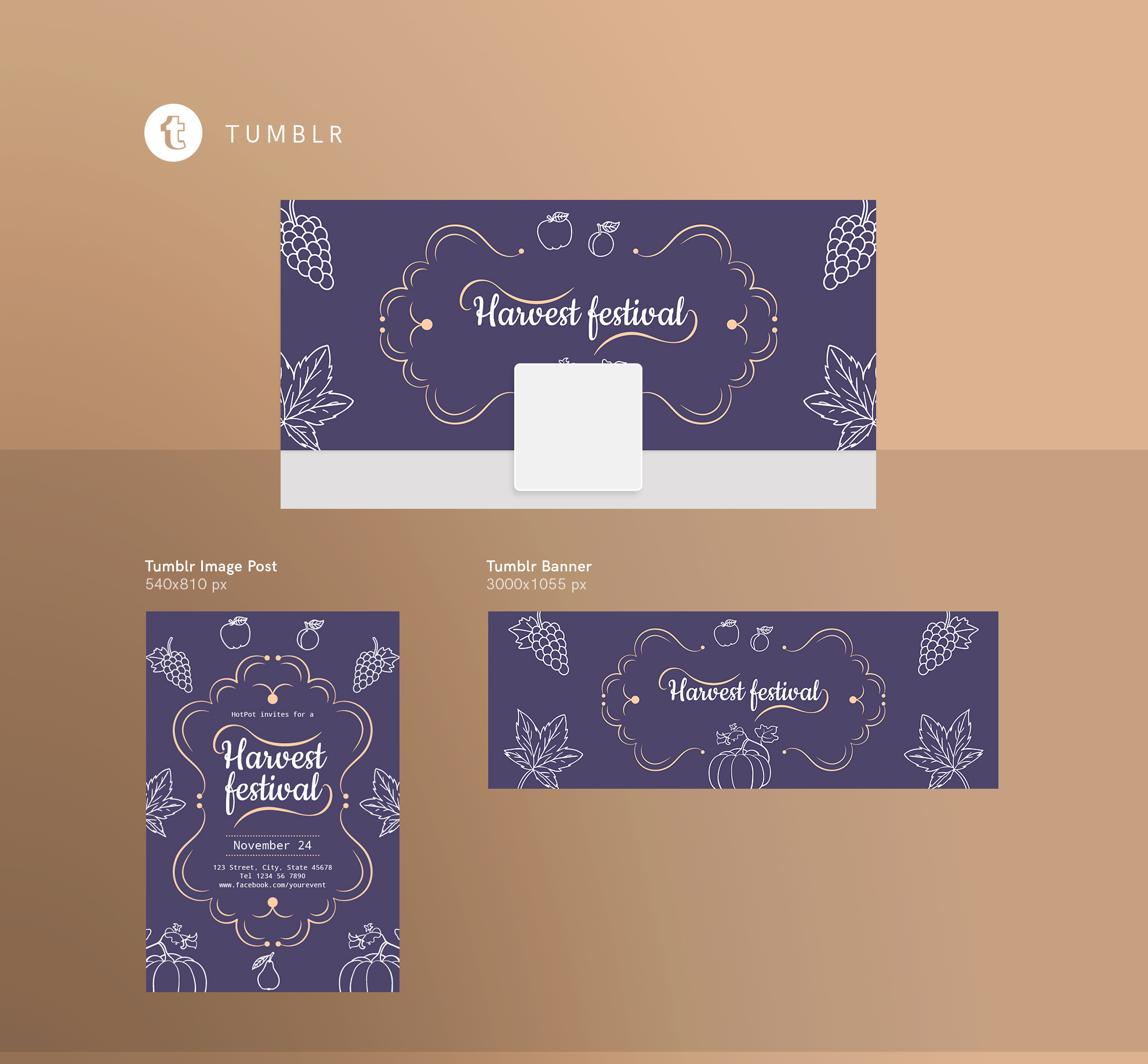 Harvest Festival Design Templates Bundle example image 13