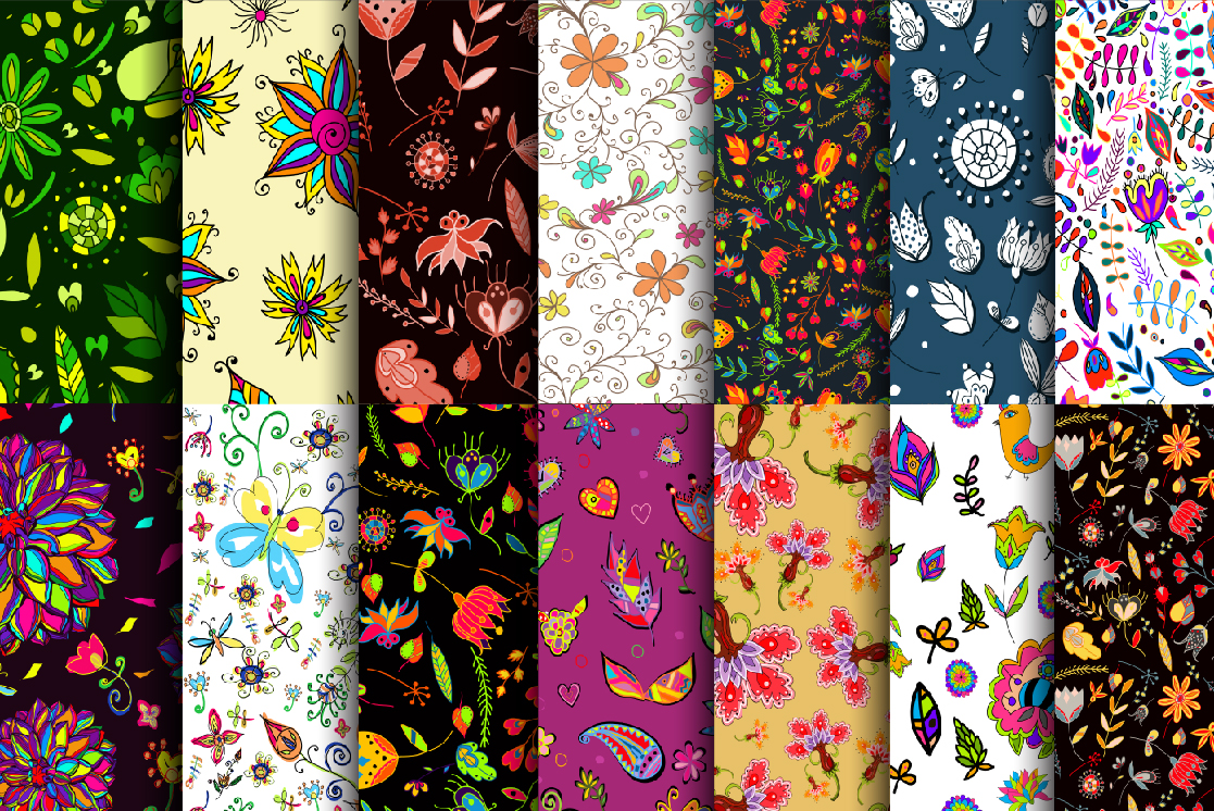 Floral seamless set 1. example image 8
