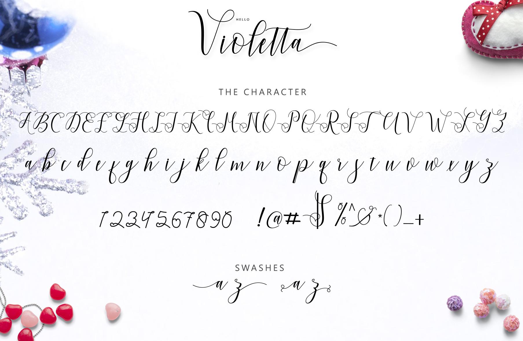 Hello Violetta script example image 9