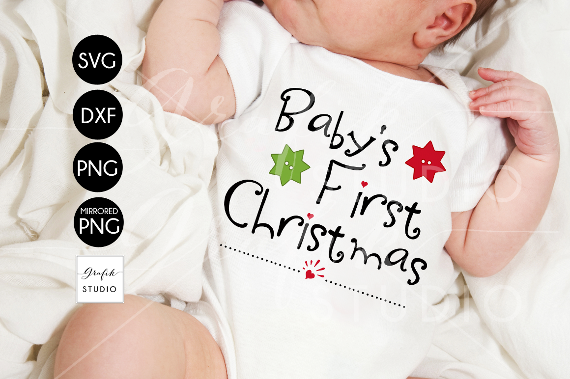 Babys First Christmas SVG File  example image 1