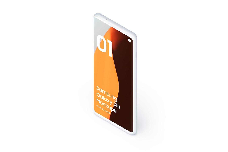 Samsung S10 - 21 Clay Mockups - 5K - PSD example image 14